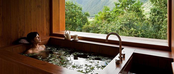 A Soothing Hot Stone Bath, Bhutan