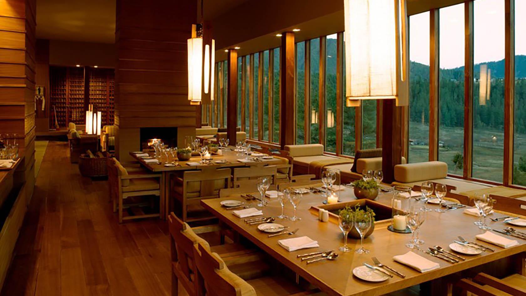 Amankora Gangtay Dining Room