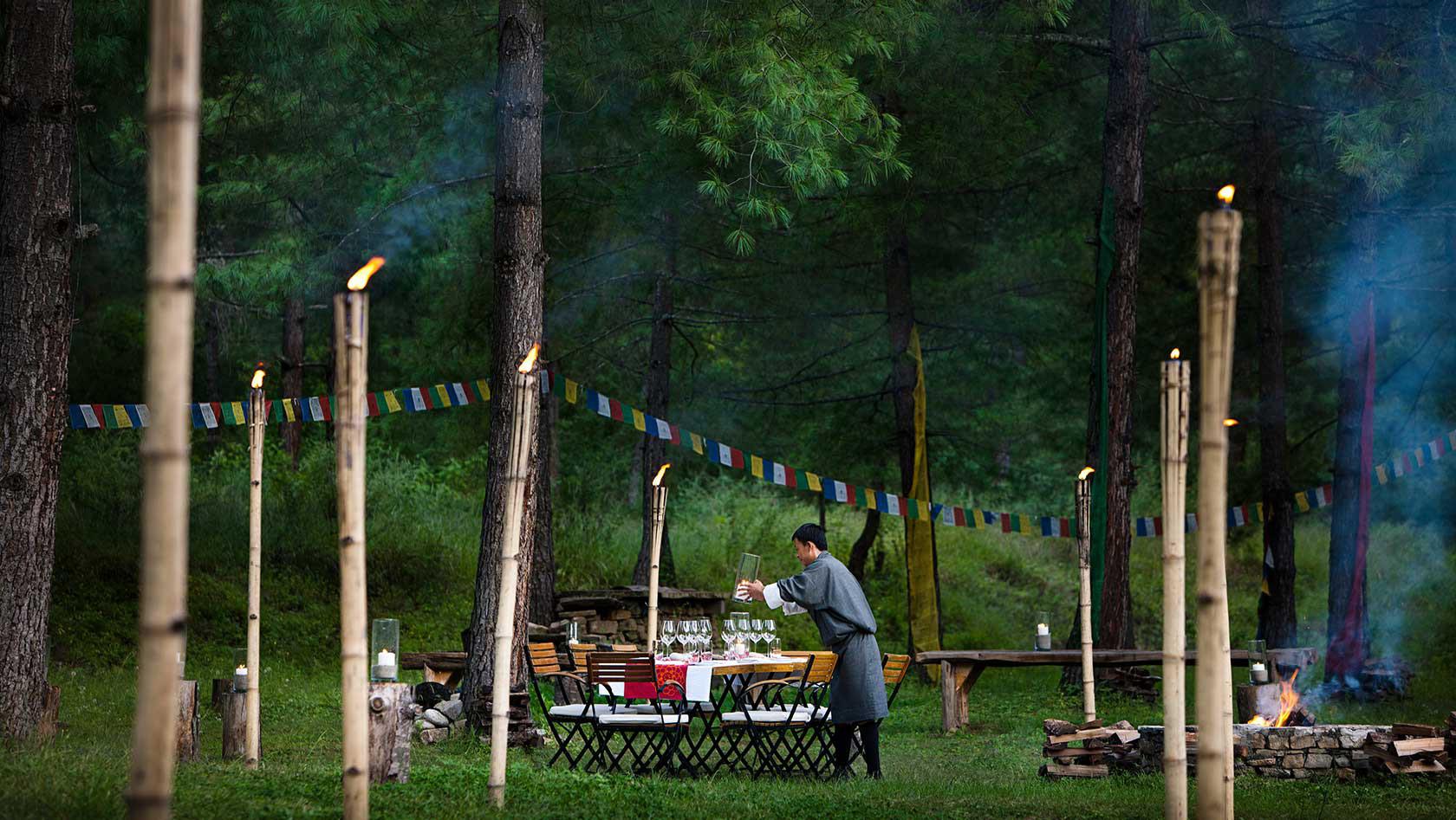 AL FRESCO DINING IN BHUTAN