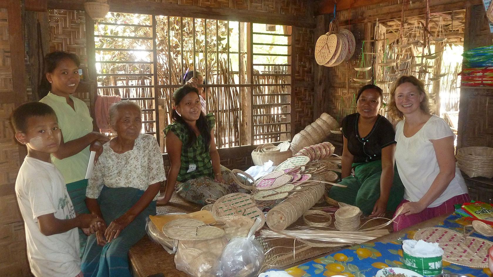 BASKET WEAVING WORKSHOP, MYANMAR